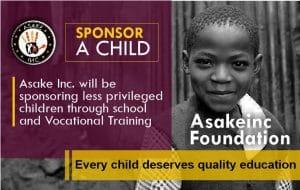 Asake inc foundation sponsor a child image